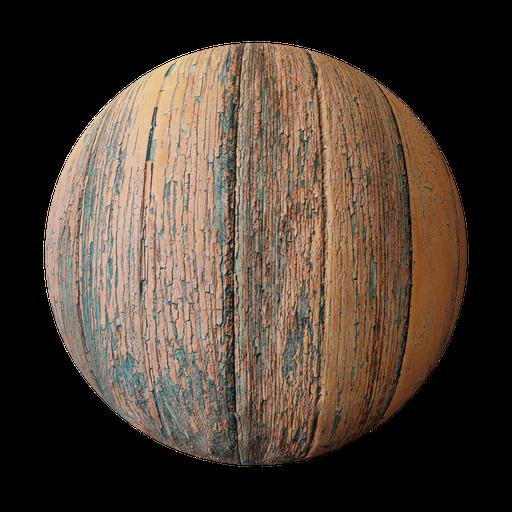 Wood Peeling Paint
