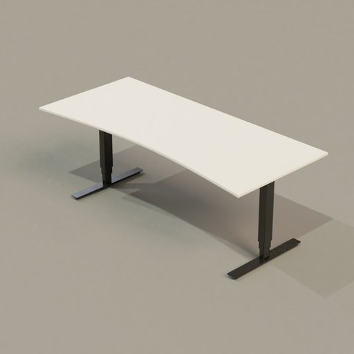 Thumbnail: Office Collection 01 PC Table (White On Black)