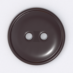 Thumbnail: button 2 holes brown