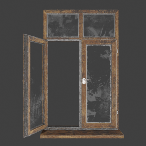 Dark Brown Wooden window