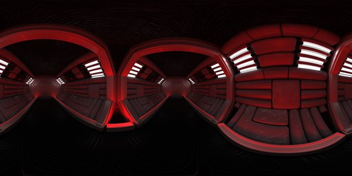 Red alert spaceship corridor