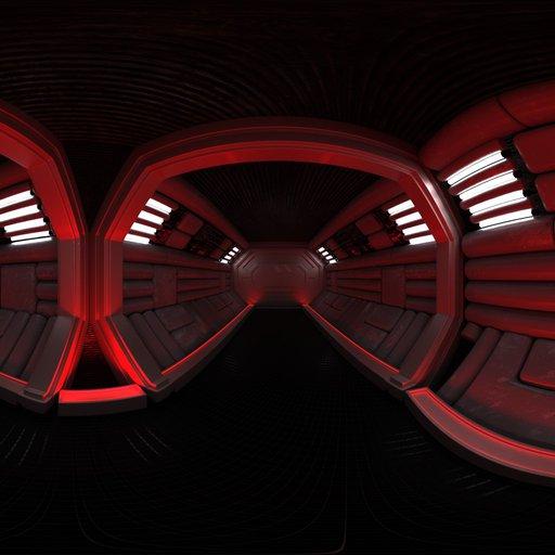 Thumbnail: Red alert spaceship corridor