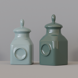Thumbnail: KITCHEN SET 9 - Porcelain Pots