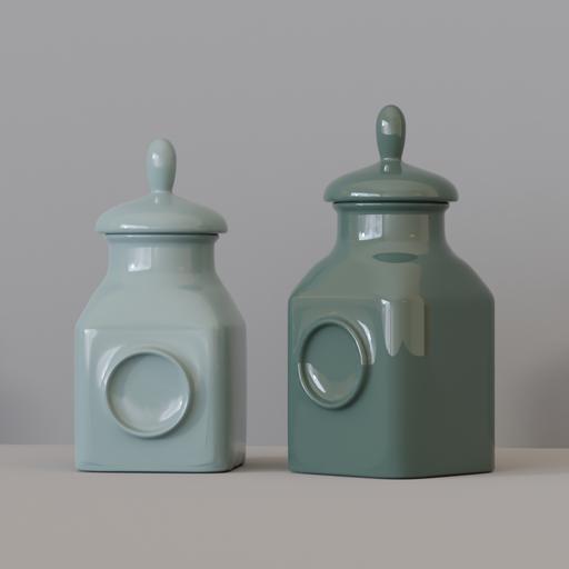 KITCHEN SET 9 - Porcelain Pots