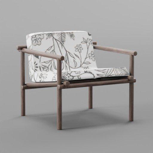 Thumbnail: Botanical Pattern Small chair