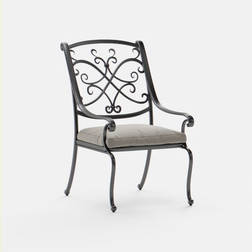 Thumbnail: Outdoor Metal Frame Chair