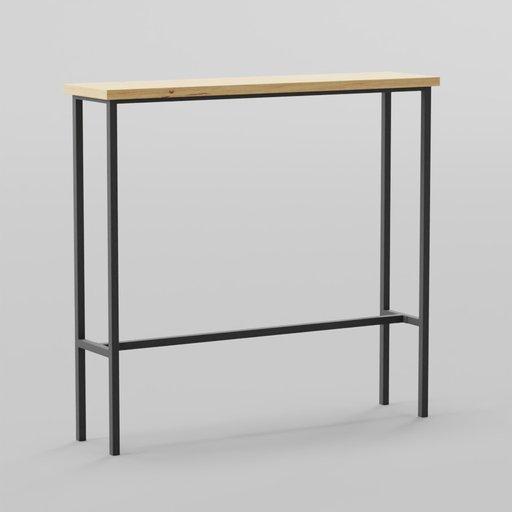 Industrial Table Bar 120x30x112