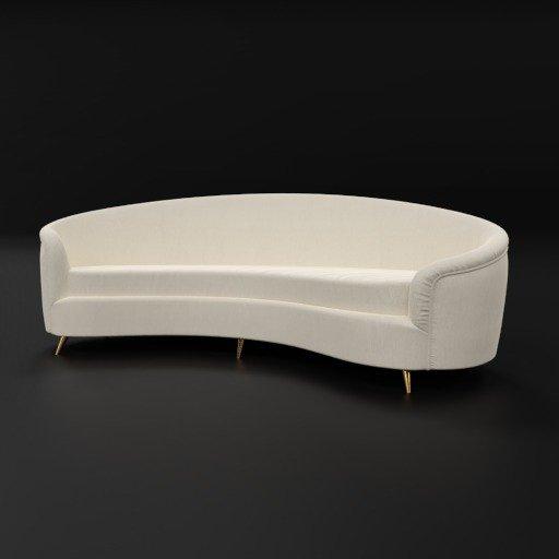 Thumbnail: Curved sofa