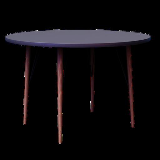 Thumbnail: CLEVELAND, Table ronde de salle à manger en bois D 120 cm