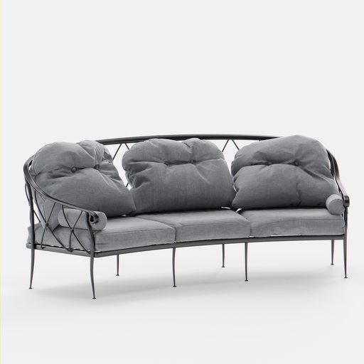 Thumbnail: Outdoor Lounge Sofa 3 Seat