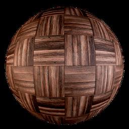 Thumbnail: Old parquet - Square Basket pattern