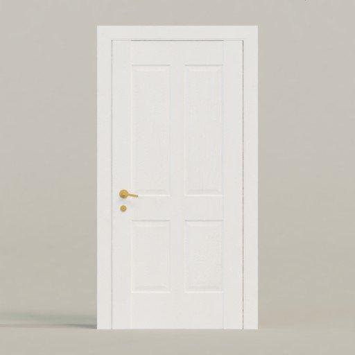 Thumbnail: White Door Rectangular Ornament