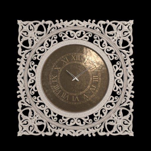 Wall Clock Wood Frame