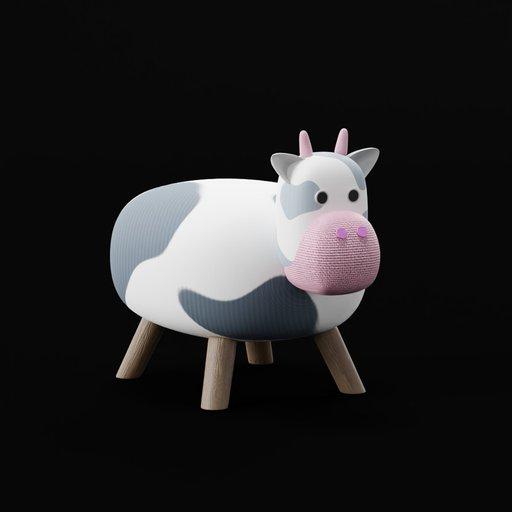Cow Shaped Short Stool (Kid)