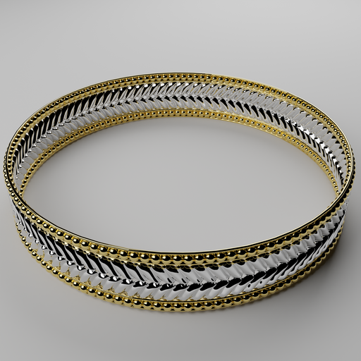 Thumbnail: Golden silver bracelet