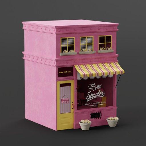 Cute pink barbershop
