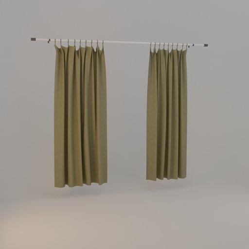 Thumbnail: Curtain olive green