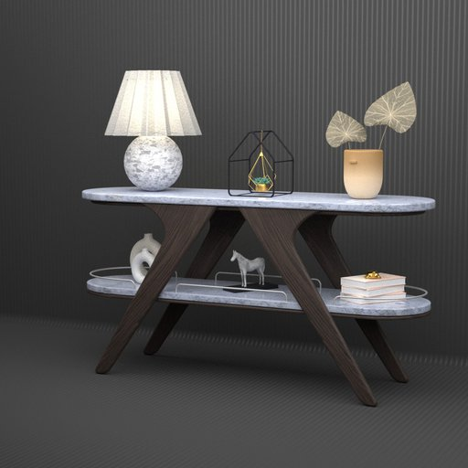 Thumbnail: Marble Console Table With decos