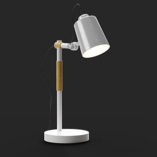 Study Table Lamp Plastic Arm
