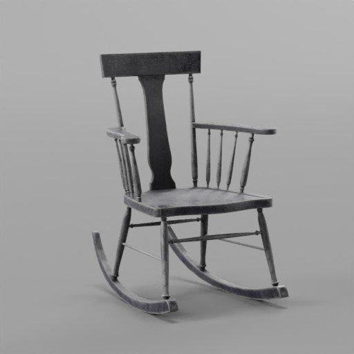 Thumbnail: Black Rockin Chair