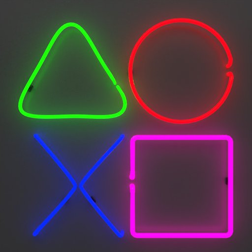 Gamer Icon Neon Sign Light Squid Game