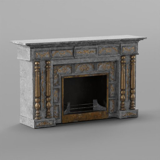 Thumbnail: Whtie Rococo fireplace 1870