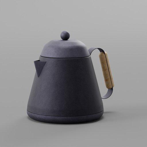 Thumbnail: Black Modern Kettle Wood Handle