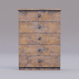 Thumbnail: small wooden cabinet dirty