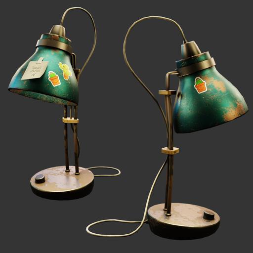 Thumbnail: Stylized dusty lamp