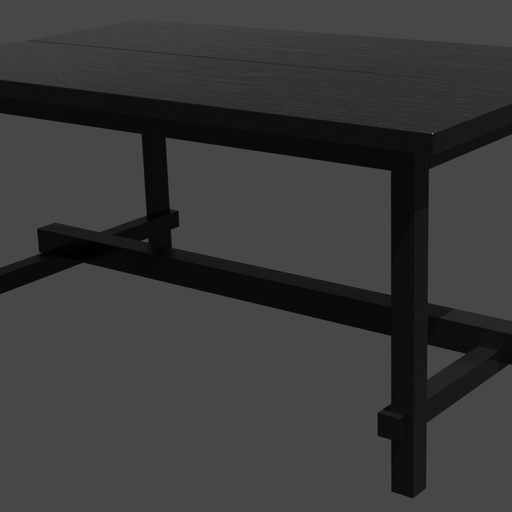 Thumbnail: Black wood table