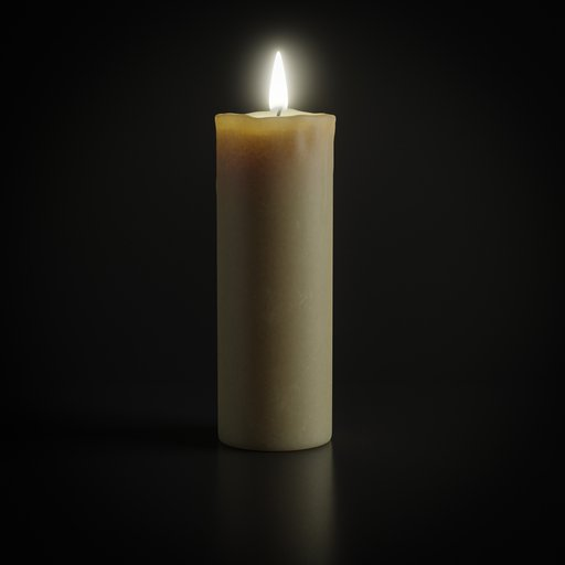 Thumbnail: Wax Candle with flame