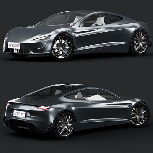 Thumbnail: Tesla roadster(grey)