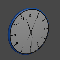Thumbnail: Blue Simple Clock