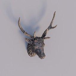 Thumbnail: deer wooden bust