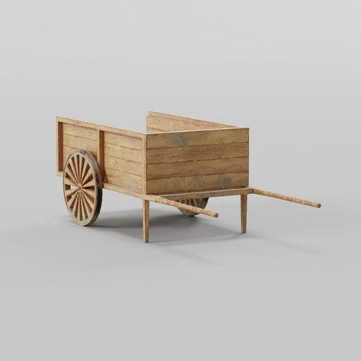 Wooden Cart 90x250x81