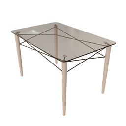 Thumbnail: Rectangular Eames Eiffel Dining Table