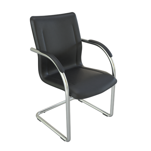 Thumbnail: Black leather chair