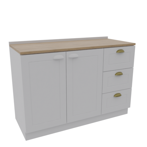 Thumbnail: Balcony 2 Doors 3 Drawers Classic