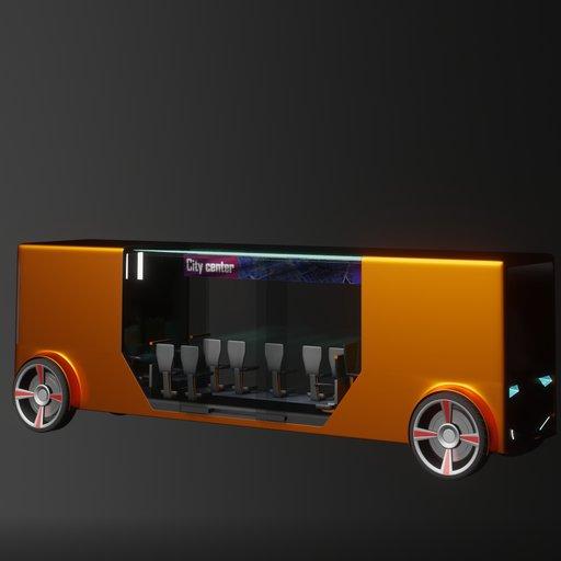 Thumbnail: Concept styled autonomous electric bus 1