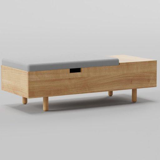 Thumbnail: Mimico Storage Ottoman Bench 127x53x40