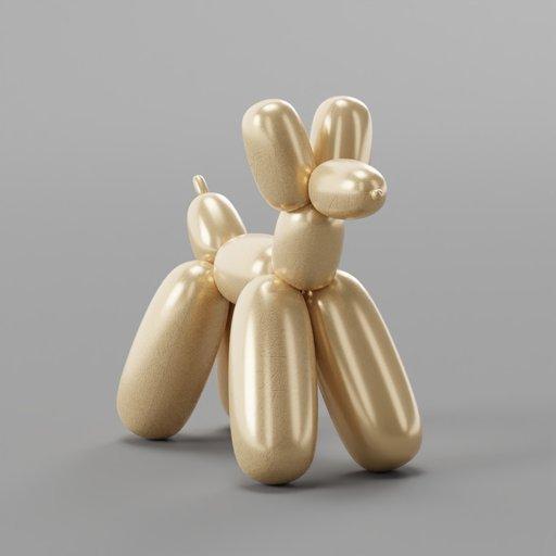Thumbnail: Metallic Balloon Dog Decoration