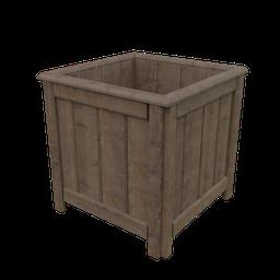 Thumbnail: Medium Wood Cachepot