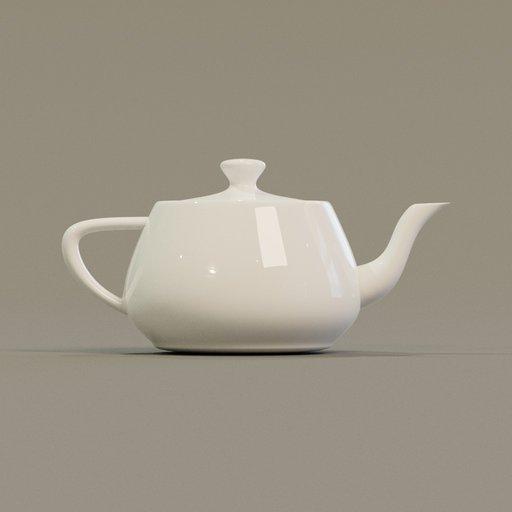Thumbnail: Teapot porcelain