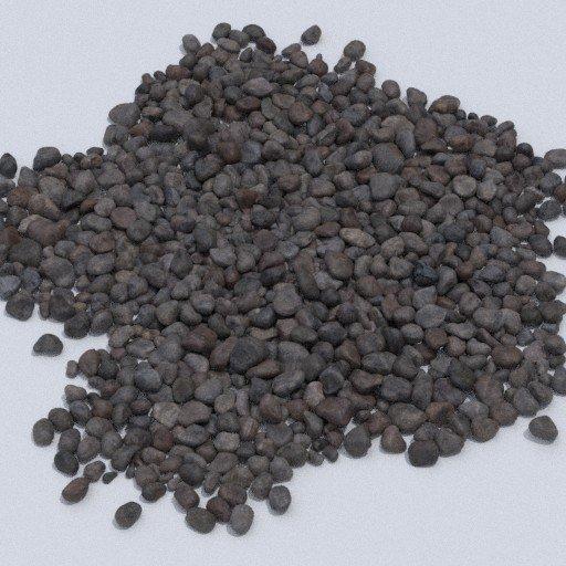 large pebbles 1.5m surface