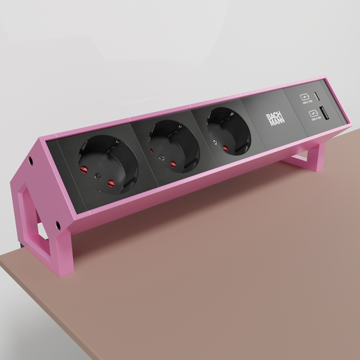 Thumbnail: Bachmann socket connection panel with USB A and USB C charger.