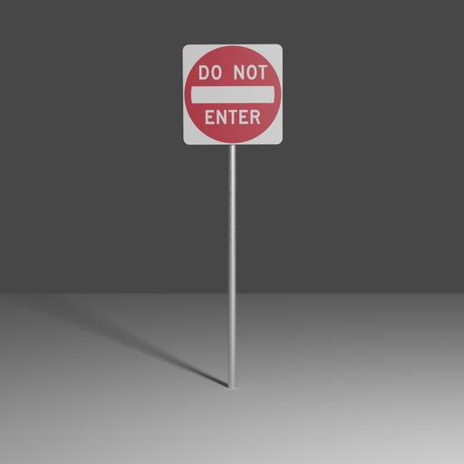 Thumbnail: Do not enter sign