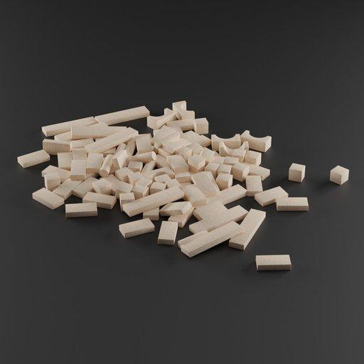 Thumbnail: Wooden building blocks in kids room