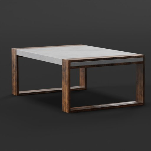 Thumbnail: Concrete wood table