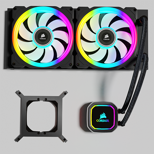 Thumbnail: Corsair AIO H100i RGB Platinum water cooling