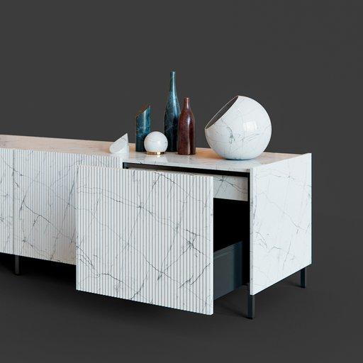 Thumbnail: Marble Sideboard
